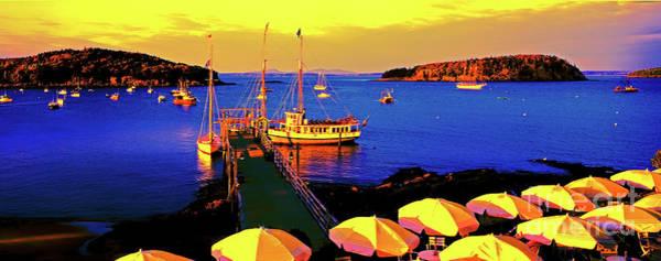 Photograph - Acaida  Bar Harbor  Pier by Tom Jelen