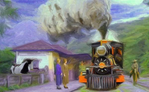 Digital Art - Acarau Steam Train Station by Caito Junqueira