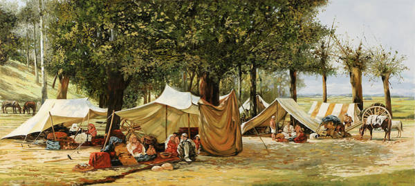 Camp Wall Art - Painting - Accampamento by Guido Borelli
