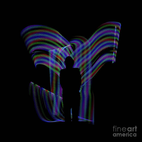 Photograph - Accendance Light Painting by Edward Fielding