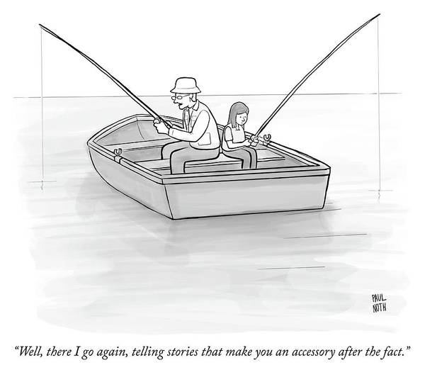 Crime Drawing - Accessory After The Fact by Paul Noth
