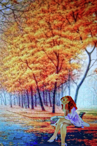 Park Bench Mixed Media - Autumn Blithe by Dennis Baswell