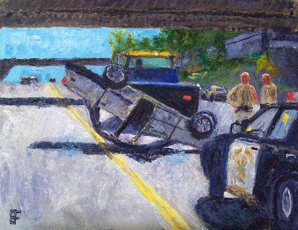 Car Accident Painting - Accident by Allen Forrest