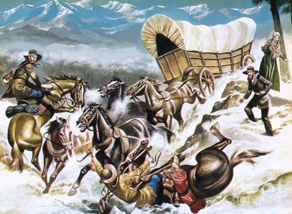 Migration Painting - Accident On The Way Out West by Ron Embleton