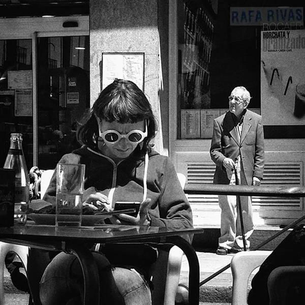 Wall Art - Photograph - Accidental Couple  #people #glasses by Rafa Rivas
