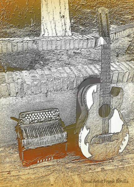 Digital Art - Accordion , Bajo Sexto by Visual Artist Frank Bonilla