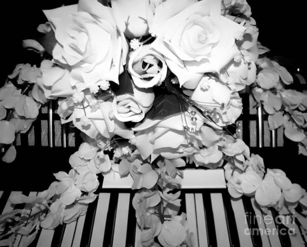 Photograph - Accordion And Wedding Bouquet Black And White Soft Effect by Rose Santuci-Sofranko
