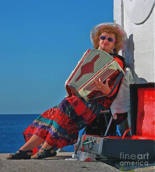 Photograph - Accordion Player by Tatiana Travelways