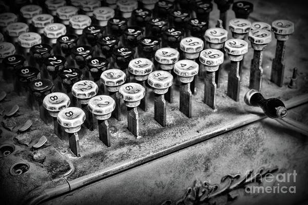 Bookkeeper Photograph - Accountant - The Adding Machine In Black And White by Paul Ward