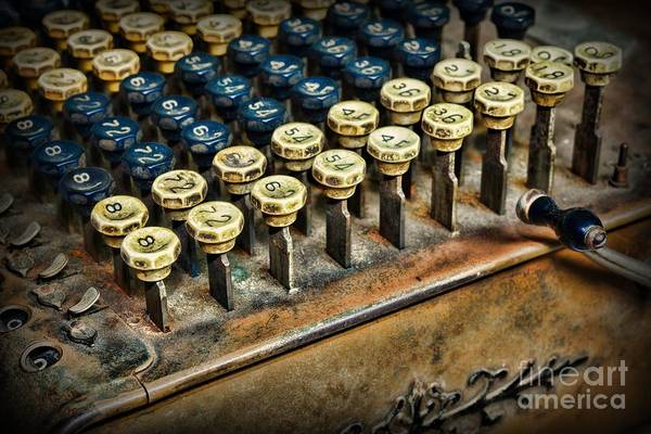 Bookkeeper Photograph - Accountant - The Adding Machine by Paul Ward