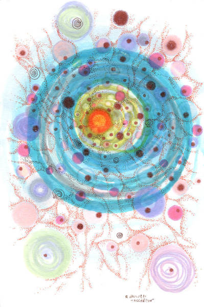 Dust Drawing - Accretion by Regina Valluzzi
