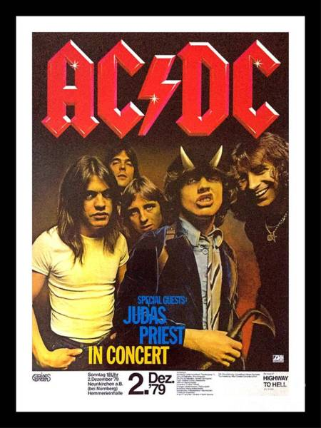 Wall Art - Photograph - Acdc Tour Of Germany Poster by Pd