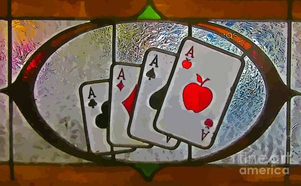 Deck Of Cards Digital Art - Ace Of Apples by John Malone