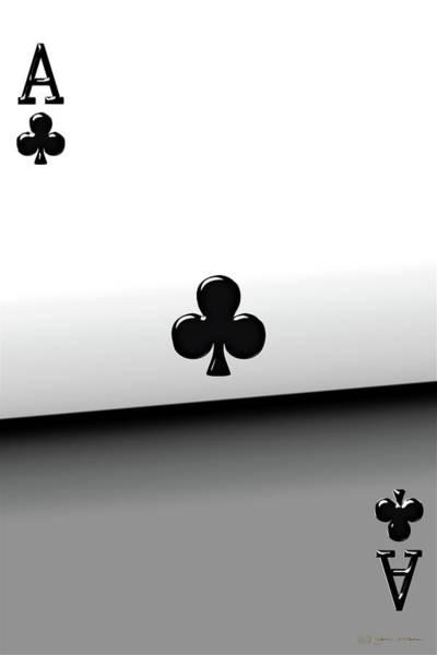 Digital Art - Ace Of Clubs   by Serge Averbukh