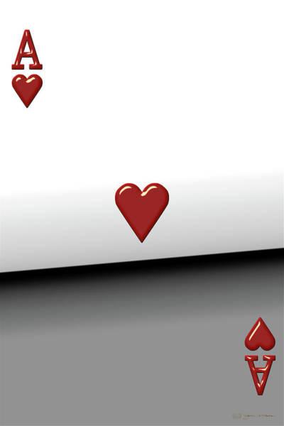 Digital Art - Ace Of Hearts   by Serge Averbukh