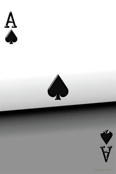 Digital Art - Ace Of Spades   by Serge Averbukh
