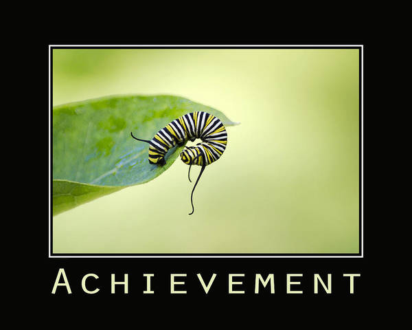 Photograph - Achievement Inspirational Poster by Christina Rollo
