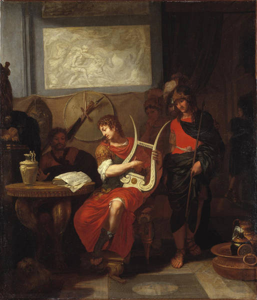Wall Art - Painting - Achilles Playing The Lyre Before Patroclus by Gerard de Lairesse