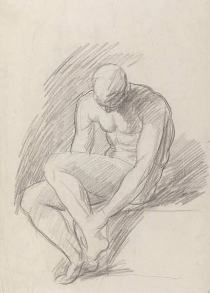 Wall Art - Drawing - Achilles Wounded by George Romney