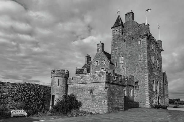 Photograph - Ackergill Tower 1119 Bw by Teresa Wilson
