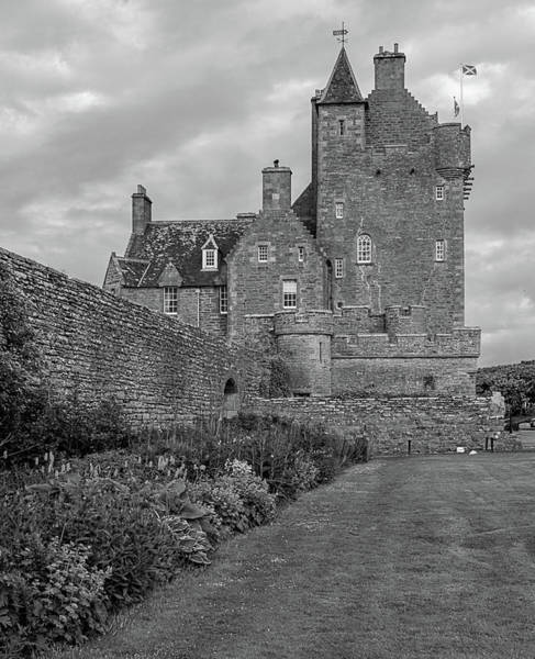 Photograph - Ackergill Tower 1173 Bw  by Teresa Wilson