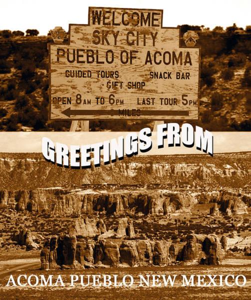 Wall Art - Photograph - Acoma Pueblo New Mexico Custom Pc by David Lee Thompson