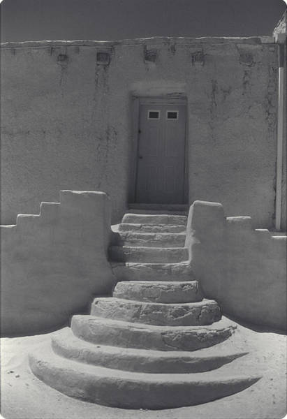 Acoma Photograph - Acoma Steps by Jerry McElroy