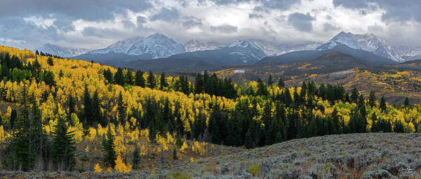 Photograph - Acorn Creek Autumn Panorama by Aaron Spong