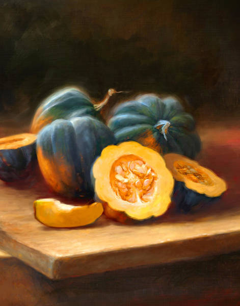 Still-life Painting - Acorn Squash by Robert Papp