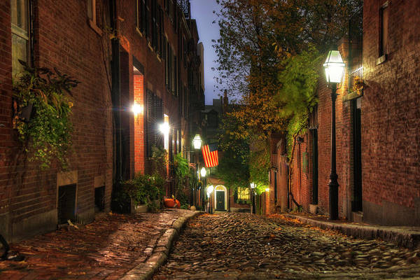 Photograph - Acorn Street - Boston, Ma by Joann Vitali