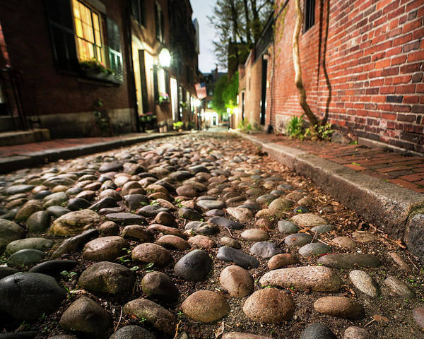 Photograph - Acorn Street Cobblestone Detail Boston Ma by Toby McGuire