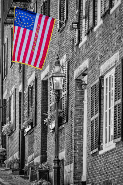 Residences Wall Art - Photograph - Acorn Street Details Sc by Susan Candelario