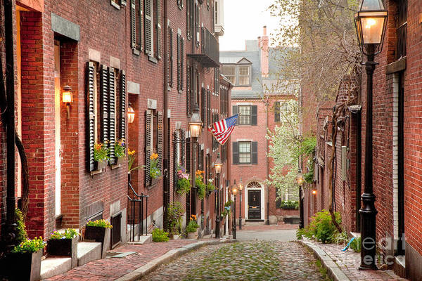 Neighborhood Photograph - Acorn Street by Susan Cole Kelly