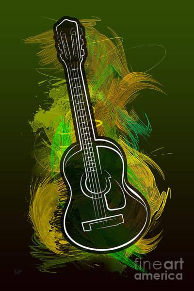 Play Music Digital Art - Acoustic Craze by Peter Awax