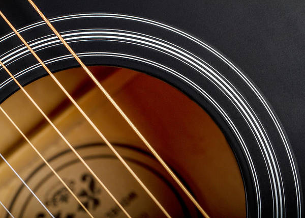 Photograph - Acoustic Guitar Abstract by Clare Bambers