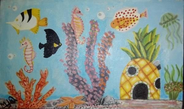 Acrilic Painting - Acquarius by Maria Lenilda Oliveira