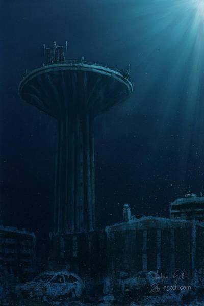 Ocean Scape Digital Art - Acquedotto by Andrea Gatti