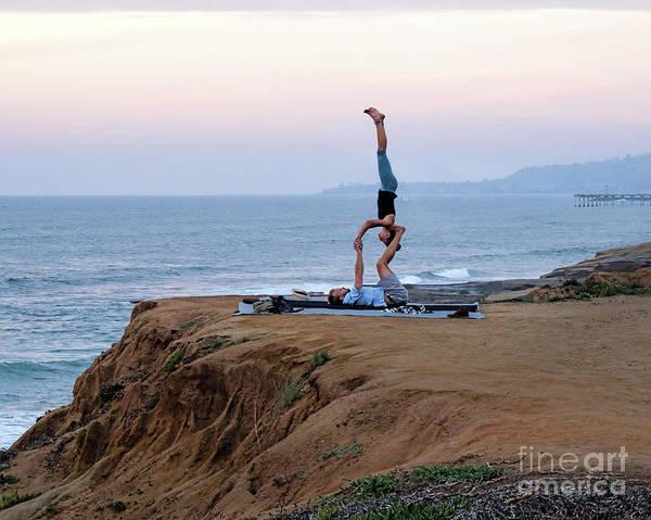 Photograph - Acrobats, Sunset Cliffs, San Diego, Ca  -95098-horiz by John Bald