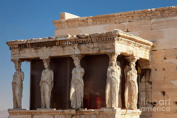 Erechtheion Photograph - Acropolis Caryatids by Brian Jannsen