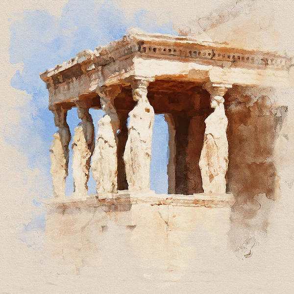 Peloponnese Painting - Acropolis Of Athens - 05 by Andrea Mazzocchetti