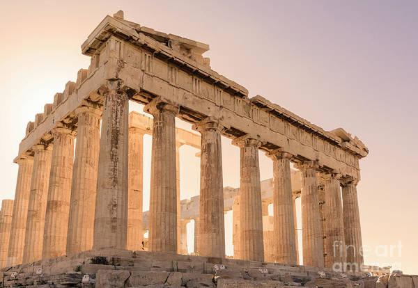 Wall Art - Photograph - Acropolis Parthenon At Sunset by Jason Knott