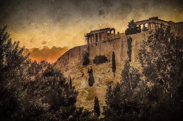 Photograph - Athens, Greece - Acropolis Sunset by Mark Forte