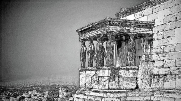Drawing - Acropolosathensgreece-athens-1403983 by Dean Wittle