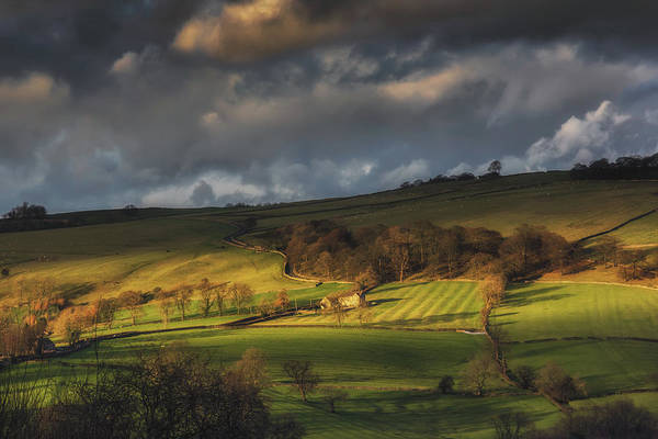 Bucolic Wall Art - Photograph - Across Dovedale At Sunset by Chris Fletcher