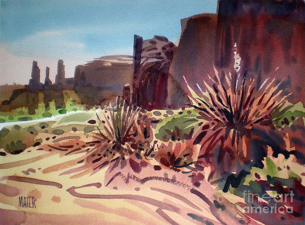 Butte Painting - Across Monument Valley by Donald Maier