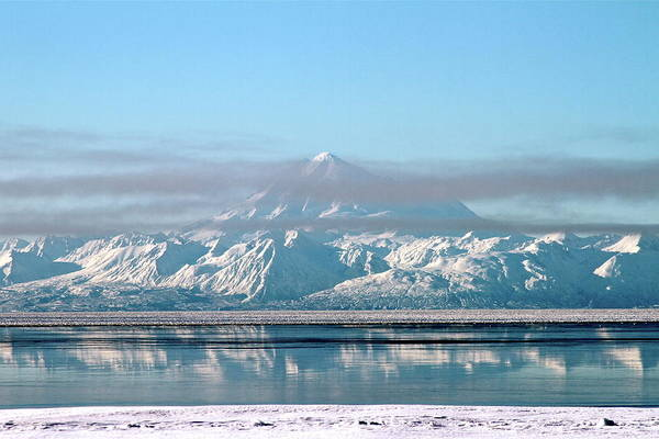 Mount Redoubt Photograph - Across The Bay by Rick  Monyahan