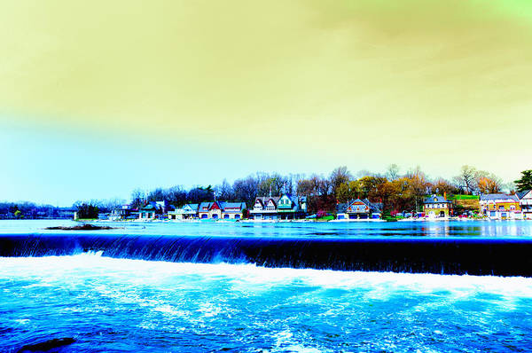 Photograph - Across The Dam To Boathouse Row. by Bill Cannon