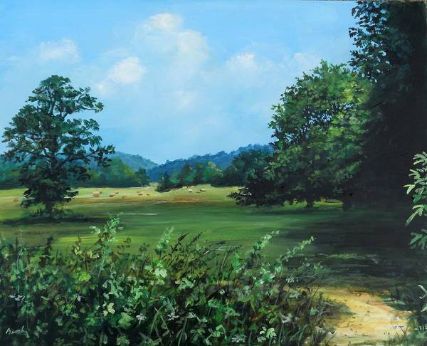 Painting - Across The Field by William Brody