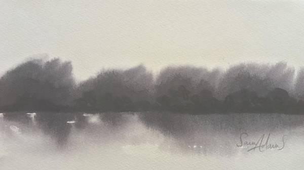 Stourhead Wall Art - Painting - Across The Lake by Samantha Adams