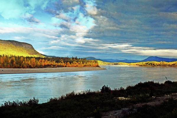 Photograph - Across The Liard by Marty Koch